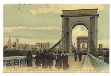 avignon ,  pont suspendu sur le rhône