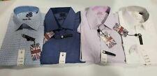 English Laundry Dress Shirt Long Sleeve Stretch Cotton Contrast Trim