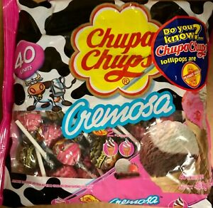 Chupa Chups Lollipops - Ice-cream Flavor 40ct. Bag Fat Free 16.93oz.