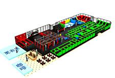 12,000 sqft Commercial Turnkey Trampoline Park Ninja Climb Inflatable We Finance