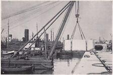 D3178 Napoli - Allargamento del pontile Vittorio Emanuele - Stampa - 1927 print