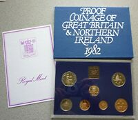 1982 GREAT BRITAIN  / NORTHERN IRELAND UK PROOF SET (7) - BRITISH DECIMAL COINS