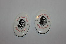 Paul Robeson Centennial Pin Pinback-1898 to 1998-Pair-Black Americana-LQQK