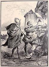 Dessin original de Albert ROBIDA (1848-1926) illustration de 1893