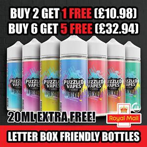 100ML E Liquid Premium 0mg | Puzzled | 70vg/30pg | Vape Juice LETTER BOX BOTTLES