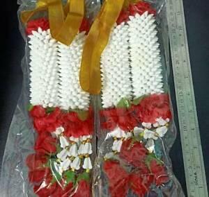 2 x 24 Layers Garland Plastic Flower Thai Style Home Buddha Decor Worship NEW
