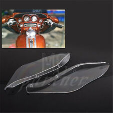 Clear wings Windshield Air Deflectors For Harley Street Glide Touring FLHR FLHT