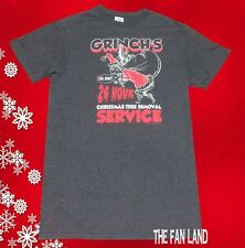New Dr. Seuss The Grinch Christmas Tree Removal Service Mens Vintage T-Shirt