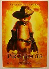 PUSS IN BOOTS  - 2011 ORIGINAL 27X40 MOVIE POSTER - BANDERAS / CAT *BOGO FREE*