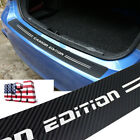 Car Parts Accessories 5d Carbon Fiber Rear Bumper Protector Anti-scratch Trim