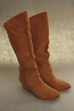 "Chinese Laundry Women's ""Invincible"" Western Suede Mid Calf Boot in Camel 6.5M"