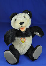 Steiff: Teddy Bär / Bear Panda 5322,2, 1954-1958, KF / with button and name tag