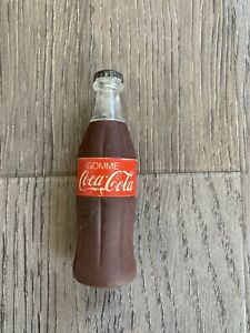 E2 Vintage 80s 90s Erasers - Perfect Coca Cola Eraser Bottle With Lid