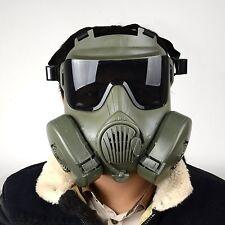 Green Military Tactical Wargame Paintball CS WAR Full Face Skull Gas Mask M50