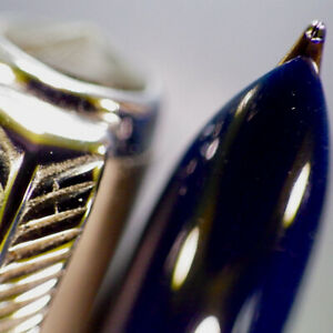 "PARKER ""51"" AEROMETRIC Gently Used Cedar Blue Fountain Pen Octani M Nib Serviced"
