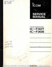 ICOM Service Manual IC-F3GT IC-F3GS