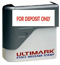 For Deposit Only Stamp Text On Ultimark Pre Inked Message Stamp With Red Ink