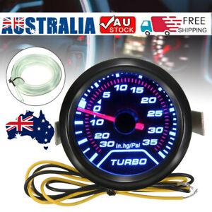 52mm 2'' LED Turbo Boost Vacuum Press Pressure Gauge Meter up 35Psi Universal