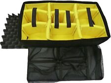 Yellow Padded dividers, lid foam, and lid organizer to fit the Nanuk 935 case