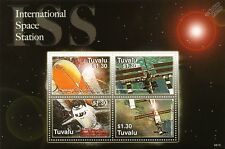 INTERNATIONAL SPACE STATION (ISS) Low-Earth Orbiter Stamp Sheet (2006 Tuvalu)