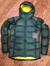 MAMMUT Meron IN - Hooded Down Jacket- Men -  Dark Teal-Canary USA Size S