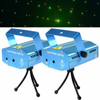 2 Sets R&G Super Mini Projector Laser Stage Show Plug DJ Disco LED Lighting New