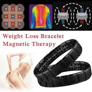 Magnetic Bracelet Hand Chain Health Energy Germanium Stainless Steel Bangles