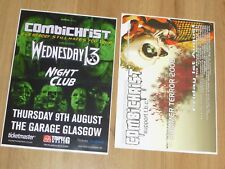 Combichrist live music memorabilia Scottish tour Glasgow concert gig posters x 2