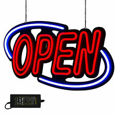 Neon OPEN Sign Light Large Bright Horizontal Business Shop Store