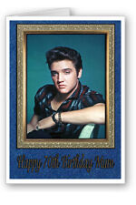 Elvis Presley Personalised Birthday Card Any Name 40th 50th 60th 70th 80th
