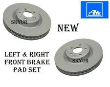 Front Left & Right Brake Rotor Set For Audi A6 A7 Q5 S4 S5 Premium ATE