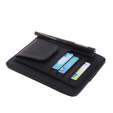 Multi-purpose Car Sun Visor Organizer Pouch Bag Pocket Card Storage Holder Black