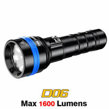 XTAR D06 1600 Lumen Cree LED Force Beam Magnetic Scuba Diving Flashlight Torch