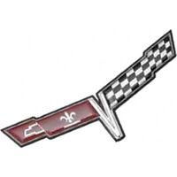 Corvette Front Emblem, Crossed-Flags, 1980 25-375341-1