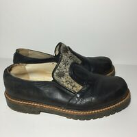 Geier Wally Womens Black Leather Wool Loafers Slip On Shoes US 9 - 9.5 EU 40