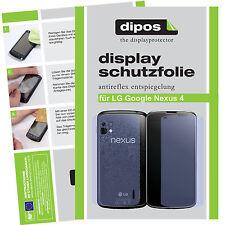 4x LG Google Nexus 4 Schutzfolie matt Displayschutzfolie Folie dipos Antireflex