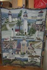 """PURE COUNTRY WEAVERS LIGHTHOUSES OF CALIFORNIA KEEPSAKE BLANKET 50W"""" x 70""""T"""