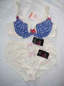 M&S 32DD Non Padded Plunge Bra & Size 8 Low Rise Shorts X2 Bnwts £29.50