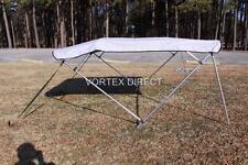 "New listing New Vortex Grey/Gray 4 Bow Pontoon/Deck Boat Bimini Top 10' long 79-84"" wide"