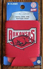 Arkansas University Razorbacks Pocket Koozie Bottle or Can College Football