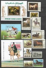 Horses small lot of used stamps