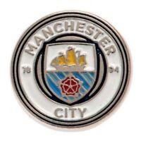 Manchester City Football Club Crest Enamel Finish Lapel Pin Badge Free UK P&P