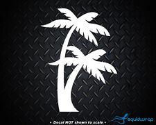 "Palm Tree Car Decal / Laptop Sticker - WHITE 6"""