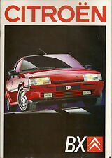 CITROEN BX Brochure 1988 Fabulous condition    UK Postfree