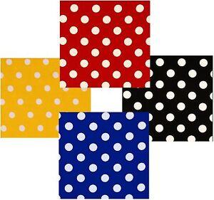POLKA  DOT POLY COTTON CHECK TABLE CLOTH COVER - RED BLACK ROYAL-BLUE YELLOW ETC
