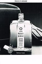 PUBLICITE ADVERTISING  1982   CARON  parfum pour UN HOMME