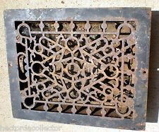 SALE Antique Cast Iron Louvered Floor Register Heat Vent Chic 12 x10 Shabby Chic
