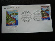 MADAGASCAR -enveloppe 23/7/71- hotel palm beach nossi be - yt n° 490 -(cy4)(T