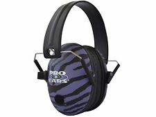 PRO EARS Pro 200 Electronic Amplification Ear Muffs NRR 19 dB Purple Zebra - NEW