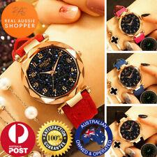 Women Ladies Starry Sky Quartz Party Watch Analog Leather Band nurse Wrist Watch